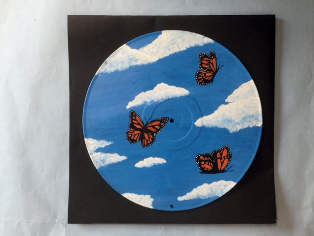 A vinyl-on-acrylic piece by 10th grader Jasmine Rego exemplifies the vast array of creative opportunities available to Wiscasset Middle High School art students. See the exhibit during Wiscasset Art Walk.