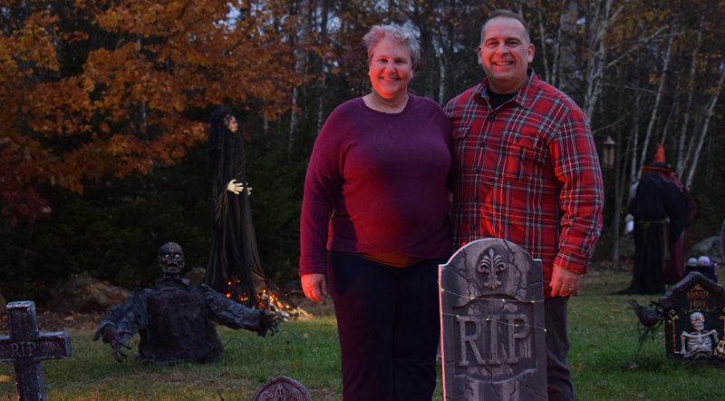 Terri and Steven Sylvester invite the public to visit their elaborate Halloween display at 58 Cushing Farm Road in New Harbor. (Evan Houk photo)