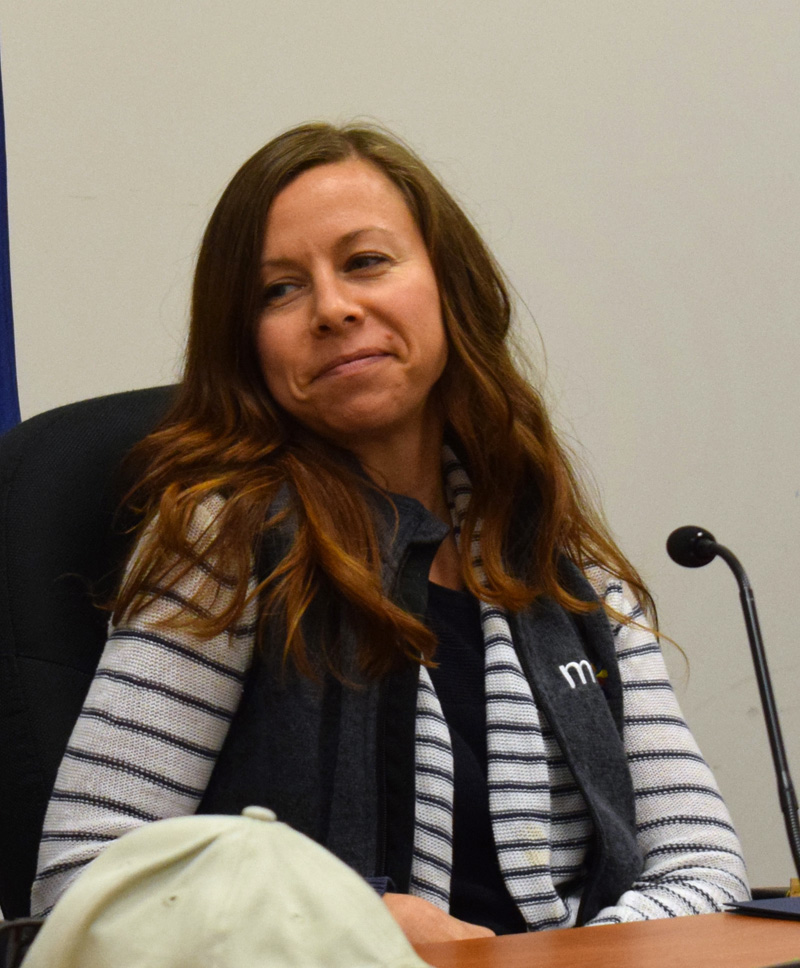 Damariscotta Selectman Amy Leshure will resign due to a move out of town, closer to a new job in Brunswick. Her last meeting will be Wednesday, Oct. 16. (Evan Houk photo)