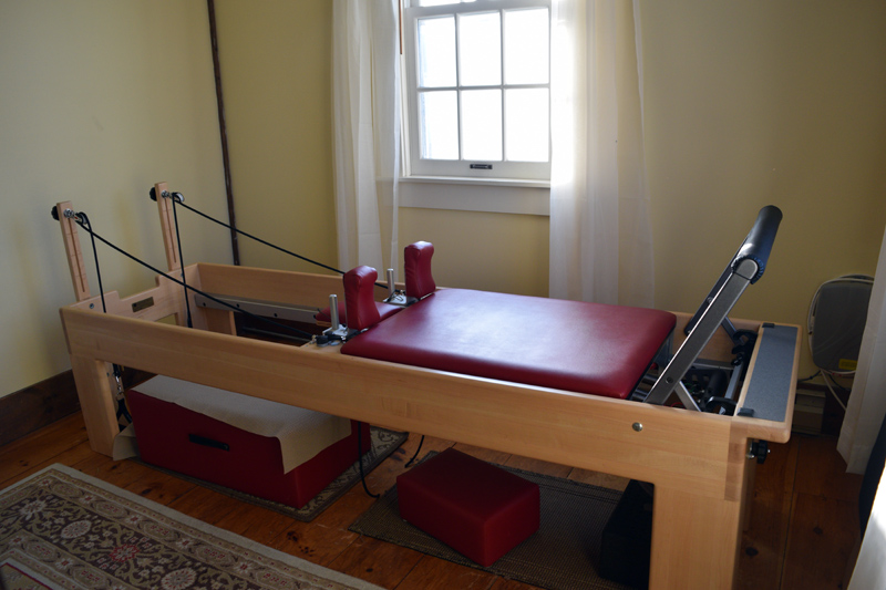 The reformer, a piece of Pilates equipment at Pilates and Feldenkrais Studio in Damariscotta. (Jessica Clifford photo)