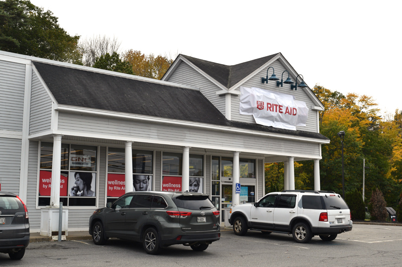 Rite Aid, at 365 Main St. in Damariscotta, will officially open as a Walgreens store Nov. 1. Changes to signage are already underway. (Jessica Clifford photo)