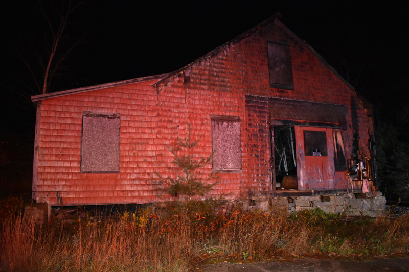 A fire was intentionally set at a vacant building at 115 Cross St. in Waldoboro on Saturday night, according to the Maine State Fire Marshal's Office. (Alexander Violo photo)