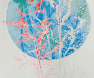 """""""Healthy Planet,"""" a monotype by Kay Miller."""