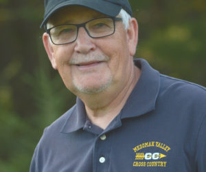 Medomak Valley coach George Gould was named KVAC Class B girls cross country Coach of the Year. (Paula Roberts photo)