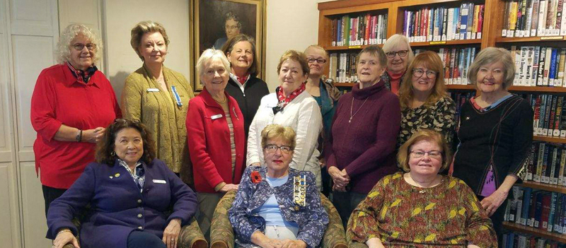 Seated from left: Audrey Miller, Patricia Viles, and Shirley Peverly. Standing from  left: Patricia Franz, Elizabeth Printy, Sue Hochstein, Diane Randlett, Sara Fahnley, Barbara Belknap, Patricia Porter, Jennifer Pierpan, and Susan Wilson.