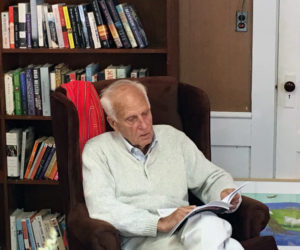 Longtime Whitefield resident and award-winning author Fred Lipp reads on Saturday, Sept. 28 at the inaugural Author's Corner event. (Photo courtesy Whitefield Library & Community Center)