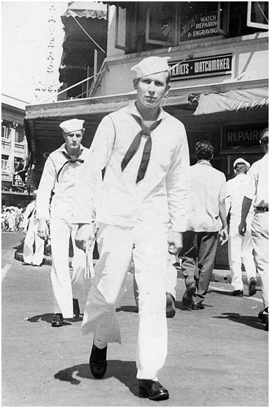 Kenneth Chaney in Pearl Harbor. Chaney is a U.S. Navy veteran of World War II. (Photo courtesy Pat Chaney)