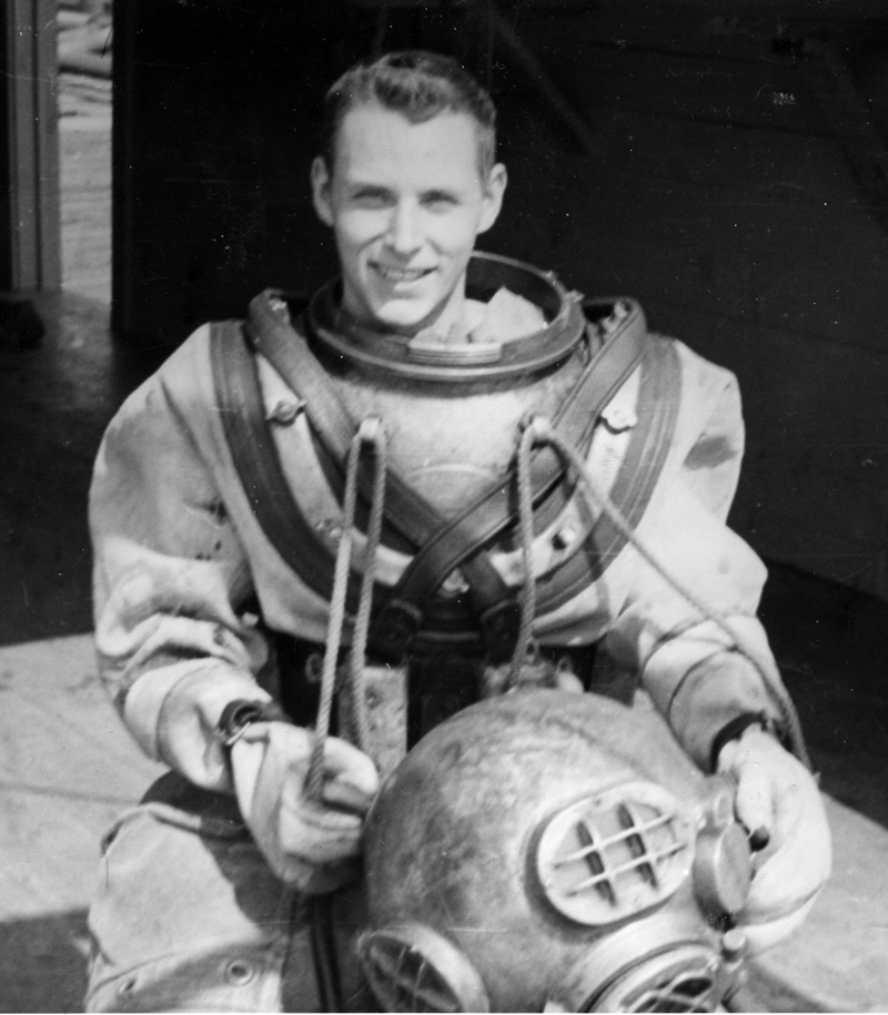 U.S. Navy Lt. William Connell trains to become a diver during the Korean War.