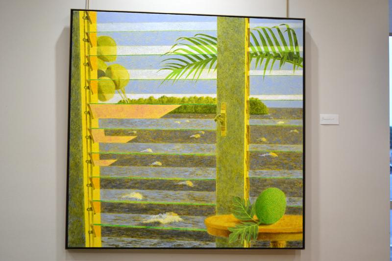 """Winslow Myers' painting """"Breadfruit."""" (Christine LaPado-Breglia photo)"""