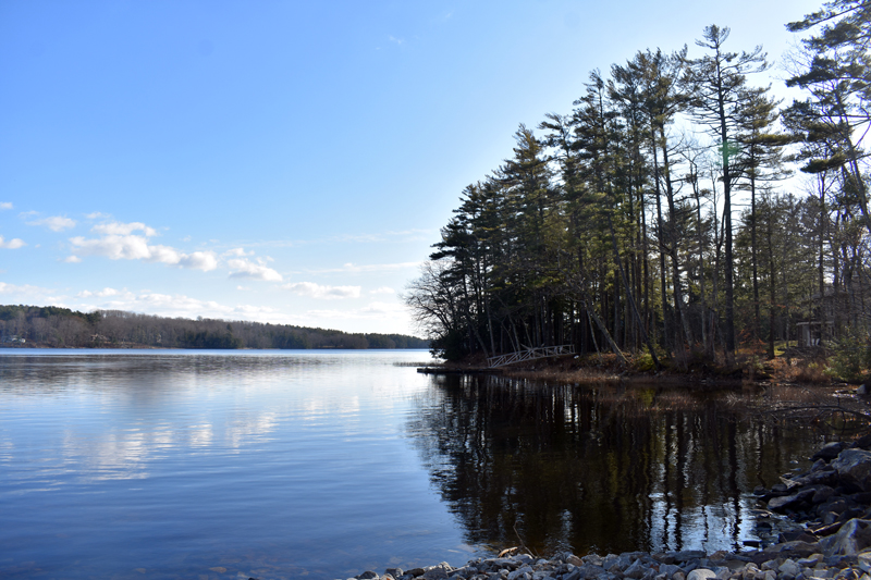A view from the Pemaquid Pond landing in Nobleboro. (Alexander Violo photo)