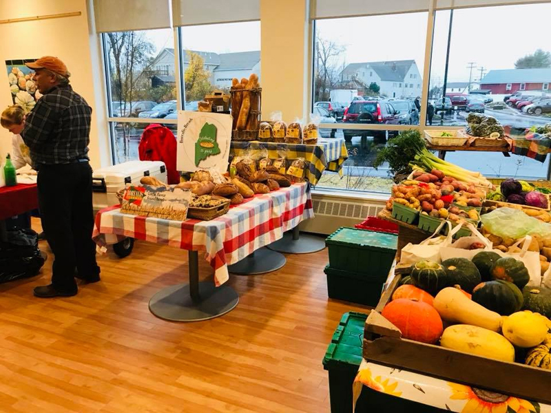 The Central Lincoln County YMCA indoor Damariscotta Farmers Market is in full swing.