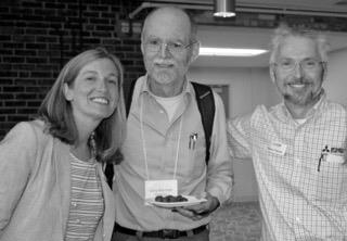 From left: Bridget Doxsee, Efficiency Maine; Larry Pritchett, Weatherize Rockland; and Dana Fischer, Mitsubishi Heat Pumps.