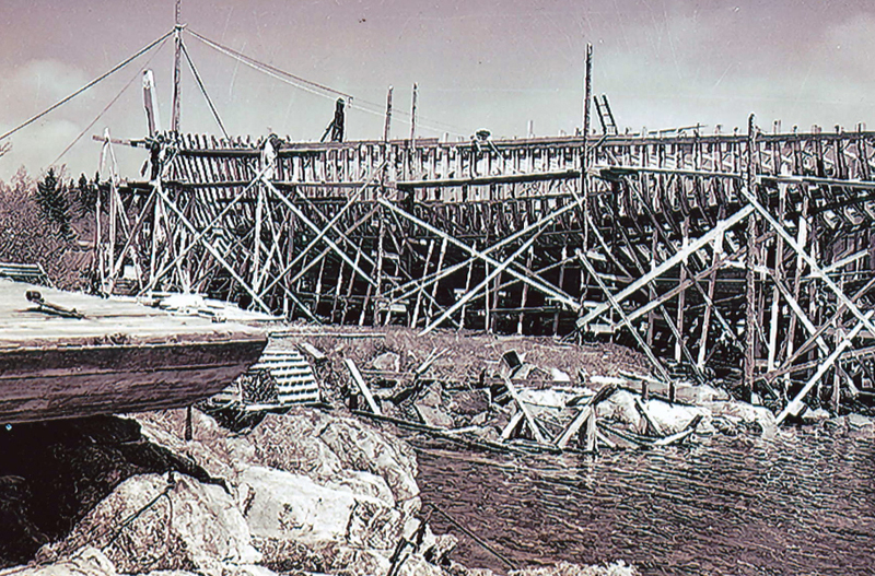 Building boats and sailing them was a way of life here on the Maine coast. (Photo courtesy Newcastle Historical Society Museum)
