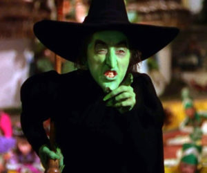 """Margaret Hamilton, the mother of Hamilton Meserve, plays the Wicked Witch of the West in """"The Wizard of Oz."""""""