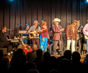 "Bobby Colwell (far left) leads a reenactment of ""The Last Waltz,"" the 1978 Martin Scorsese documentary about The Band's farewell concert. Colwell and other Maine musicians will perform the show at Lincoln Theater in Damariscotta on Sunday, Jan. 12. (Photo courtesy Larry Sidelinger)"