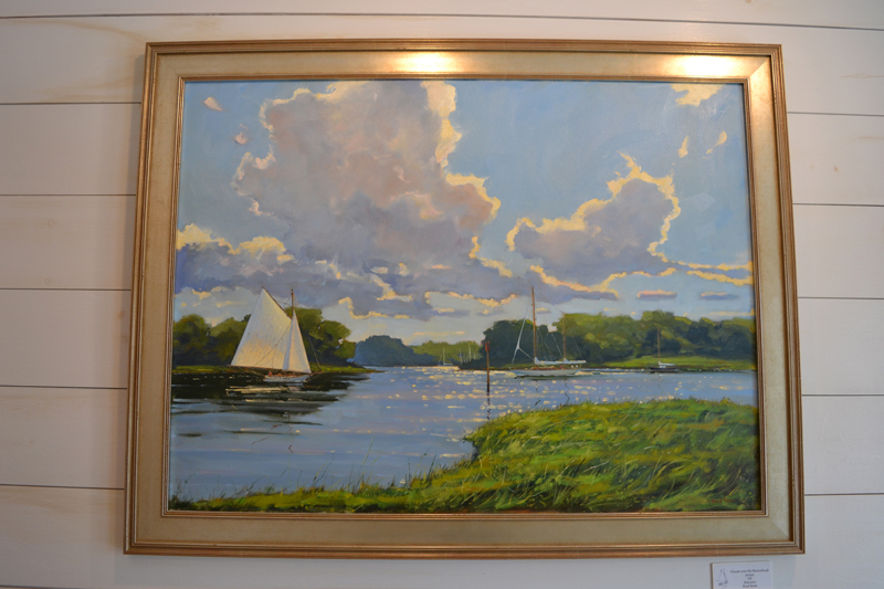 """Clouds over the Kennebunk,"" a 30-by-40-inch oil painting by Brad Betts. (Christine LaPado-Breglia photo)"