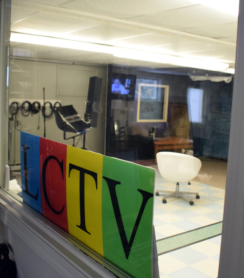 A view into the Lincoln County Television studios Wednesday, Dec. 18. The public access station is shifting its focus after some personnel changes. (Evan Houk photo)