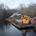 Walkway Replacement Underway at Damariscotta Mills Fish Ladder
