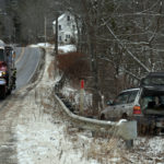 Car Runs Over Sign, Goes Down Embankment in Waldoboro