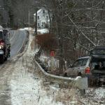 Car Runs Over Sign, Goes Down Embankment in Waldoboro