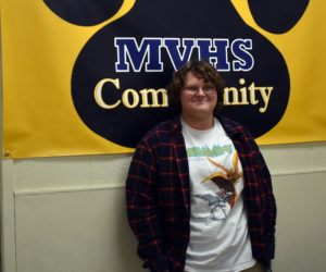 Benjamin Martin, a senior at Medomak Valley High School in Waldoboro, hosts a radio show on 93.3 WRFR-LP in Rockland from 7-8 p.m. on Sundays. (Alexander Violo photo)