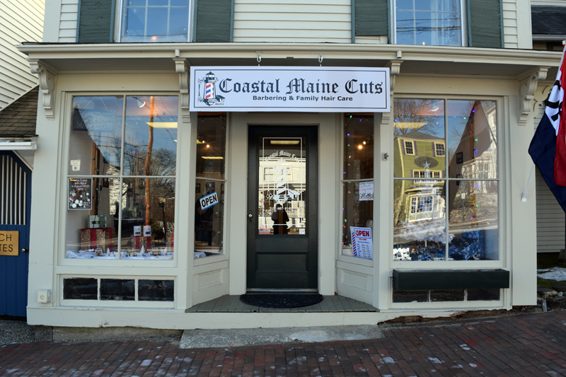 Coastal Maine Cuts, a barbershop for all ages at 106 Main St. in downtown Wiscasset, opened in early December. (Jessica Clifford photo)