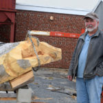 WMHS Employee Works with Students to Create Sculpture of Mascot