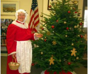 Mrs. Santa at the Bristol Area Library.