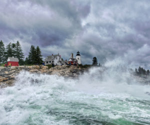 "William ""Billy"" Smith won the 2019 #LCNme365 photo contest, as his photo of Pemaquid Point Lighthouse Park the weekend of Hurricane Dorian received the most reader votes in an online poll. Smith will receive a prize package from Lincoln County Publishing Co., including the first copy of the 2020 calendar featuring the monthly winners of the contest."