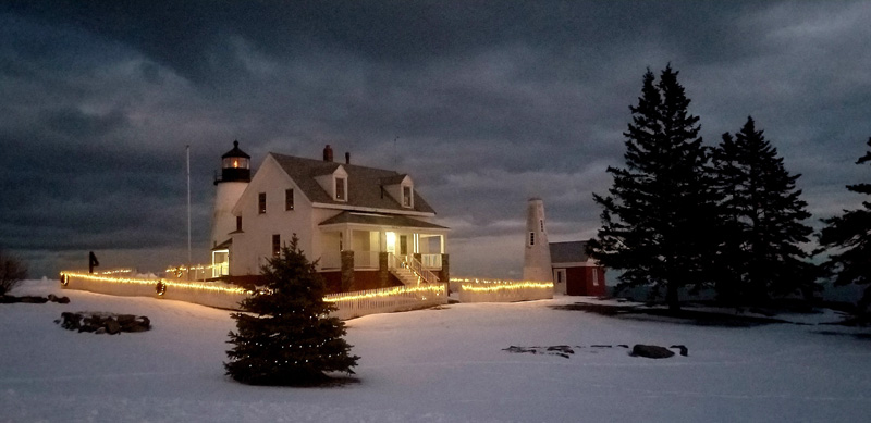 Gayla Braley, of Thomaston, won the December #LCNme365 photo contest with her picture of Christmas lights at Pemaquid Point Lighthouse Park. Braley will receive a $50 gift certificate to Louis Doe Home Center, of Newcastle, the sponsor of the December photo contest.