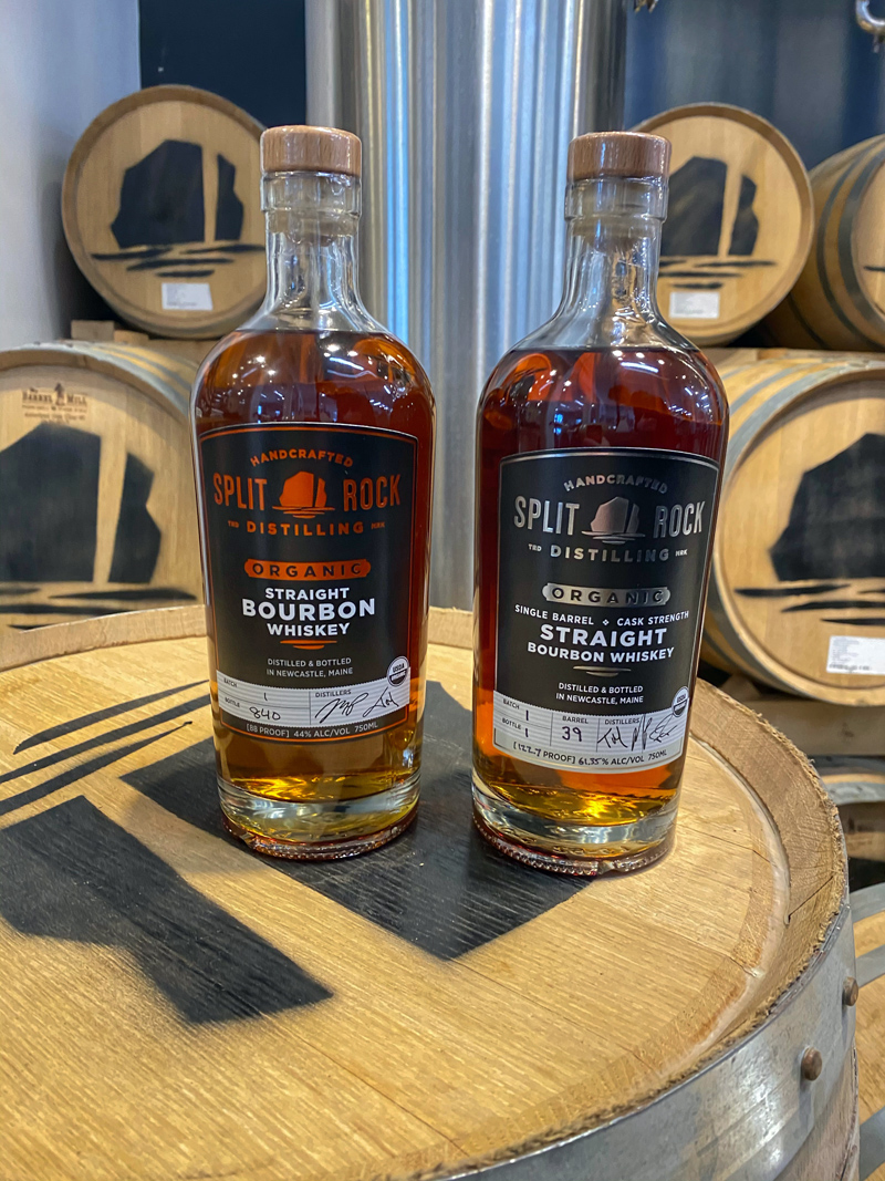 Split Rock Distilling, of Newcastle, has released two new organic bourbons, the straight bourbon and the single-barrel cask strength bourbon.