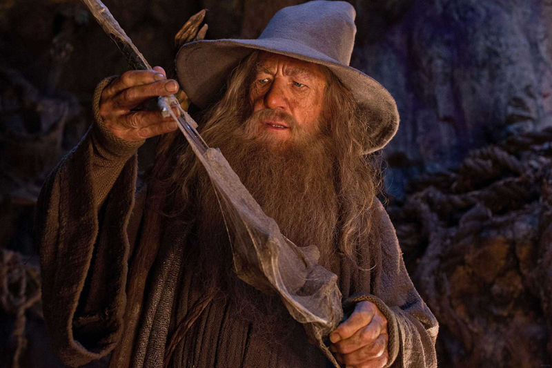 Ian McKellen as Gandalf, in the Lord of the Rings movie series. (Movie still courtesy Lincoln Theater)