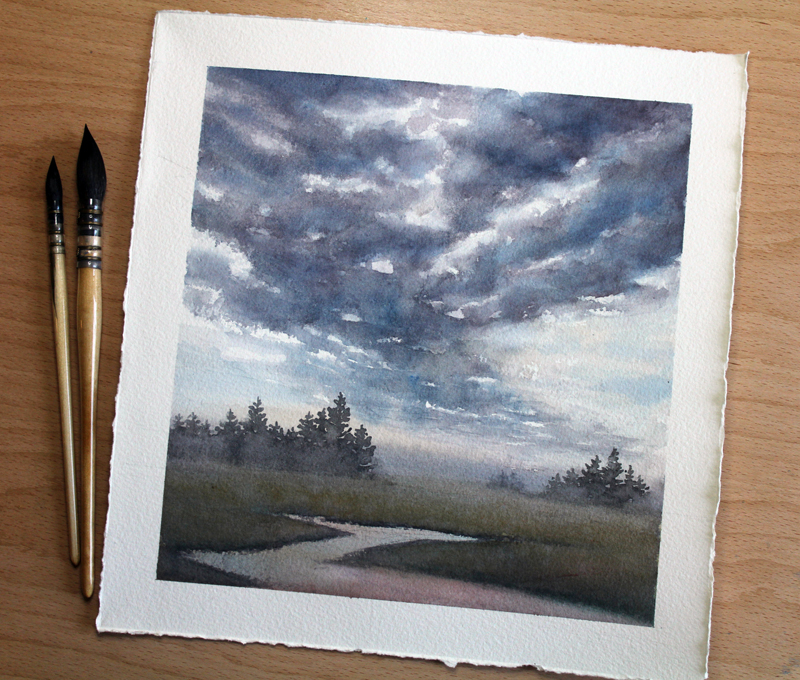 A cloud study by Erica Qualey.