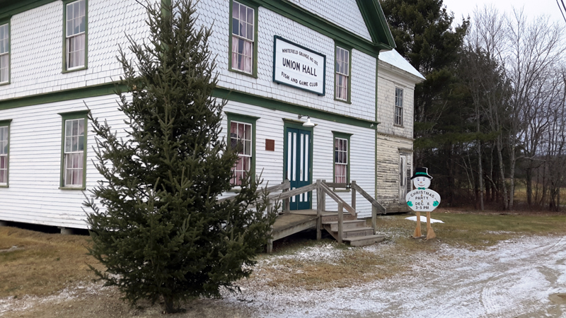 Kings Mills Union Hall, the setting for the upcoming Christmas party and tree lighting.
