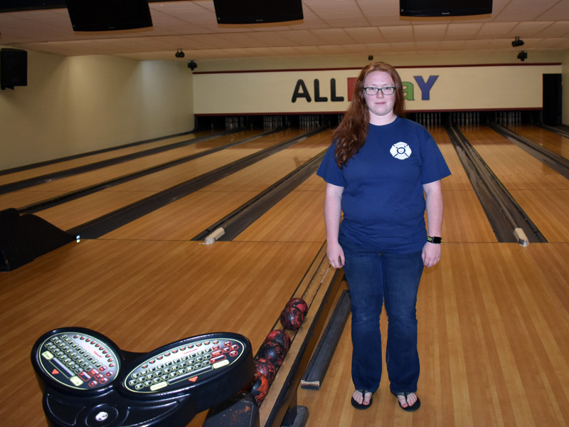 Sammi Spear owns Sammi's Family Entertainment Center, the former ALLPLaY Family Entertainment Center, in Waldoboro. After some computer work and renovations, she plans to reopen Friday, Jan. 31. (Alexander Violo photo)