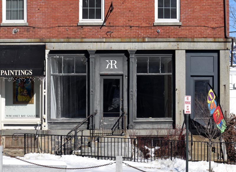 A vacant storefront at 65 Main St. in downtown Wiscasset will soon house the wine bar In a Silent Way. The name comes from a Miles Davis album. (Jessica Clifford photo)