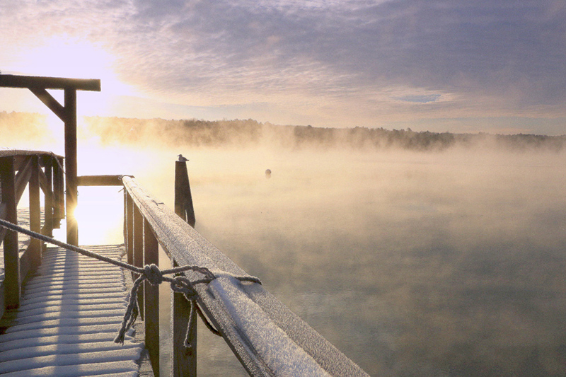 Grisan Stevenson's photo of sea smoke rising off the Sheepscot River in Edgecomb at sunrise on a chilly winter morning received the most reader votes to win the January #LCNme365 photo contest. Stevenson will receive a $50 gift certificate from Racha Noodle Bar by Best Thai, the sponsor of the January photo contest.