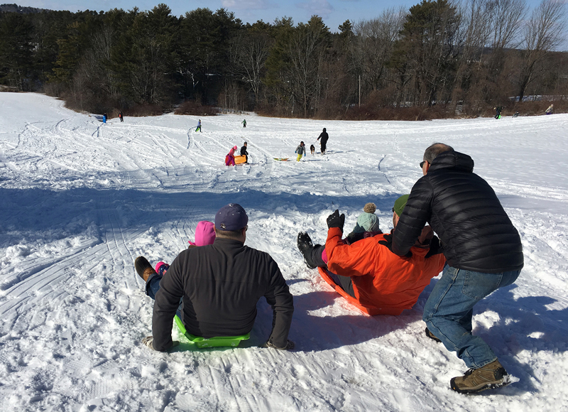 With the right conditions, sledding is a big draw at Winter Fest, taking place this year on Sunday, Feb. 9 from noon-3 p.m.