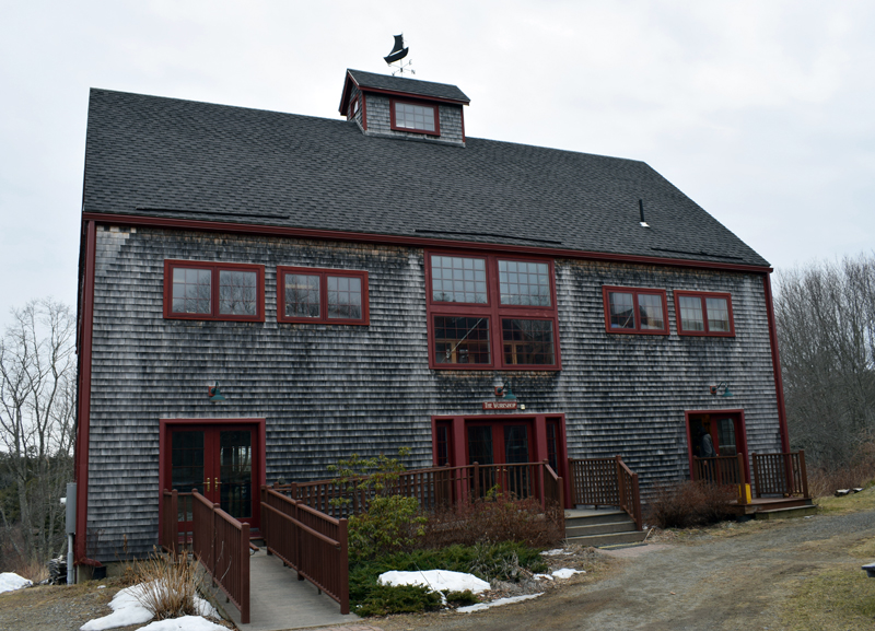 The main workshop at The Carpenter's Boat Shop, at 440 Old County Road in Pemaquid. The organization welcomes visitors to stop in anytime, especially during the daily community tea break in the workshop from 10-10:20 a.m. (Evan Houk photo)