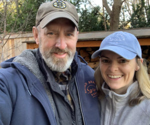 Dan and Maggy Sullivan own Broad Arrow Farm in Bristol. The farm has a new meal membership program, Suppah Club. Members can buy and pick up restaurant-quality food weekly to heat up at home. (Photo courtesy Dan Sullivan)