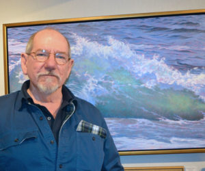 Will Kefauver with one of his wave paintings. (Christine LaPado-Breglia photo)