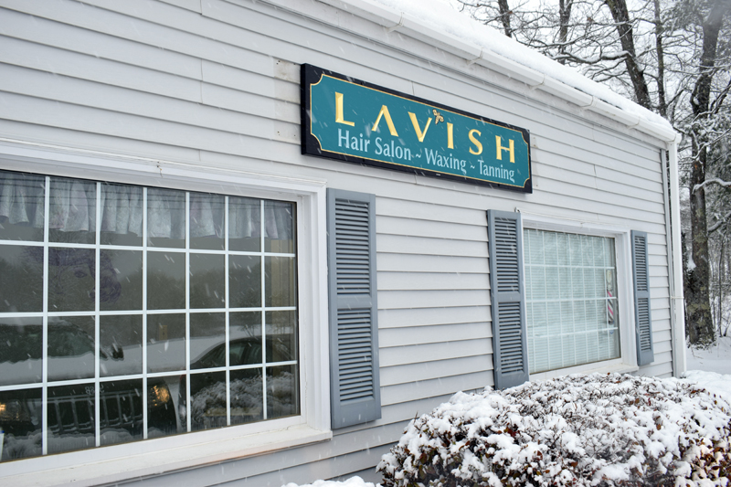 The new sign at Lavish hair salon, at 19 Sheepscot Road in Newcastle. (Evan Houk photo)