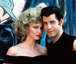 "Olivia Newton-John and John Travolta, the stars of ""Grease."" (Image courtesy Lincoln Theater)"