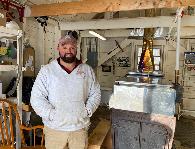 Justin Woods, of SweetWoods Farm, will offer a guided tour of his tap lines and sugar shack on Sunday, March 1.