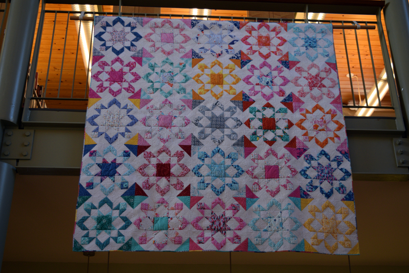 """Fireworks,"" a modern quilt created by Deb Boucher. (Jessica Clifford photo)"