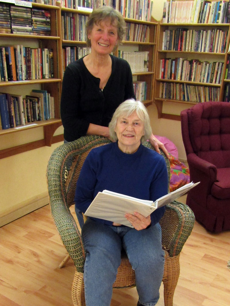 Carolee Withee (sitting) and Carol Teel. (Photo courtesy Carol Teel)