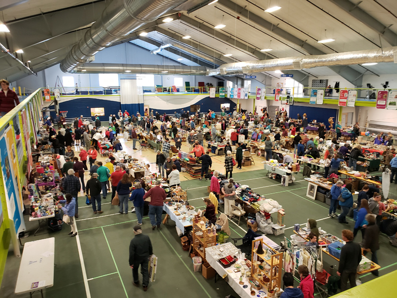 Hundreds of people visited the Central Lincoln County YMCA in Damariscotta to browse the plethora of yard sale treasures during the second annual Lincoln County Yard Sale on April 27, 2019. The third annual Lincoln County Yard Sale, presented by the CLC YMCA and Lincoln County Publishing Co., will take place Saturday, April 25.