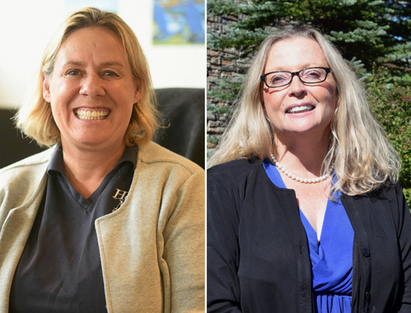 From left: former state Rep. Stephanie Hawke, R-Boothbay Harbor, will challenge state Rep. Holly Stover, D-Boothbay, in House District 89.