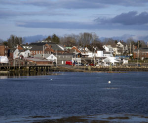 A view of downtown Damariscotta from Newcastle on Saturday, April 18. The town of Damariscotta has won a $3 million grant for improvements to waterfront infrastructure. (Bisi Cameron Yee photo)