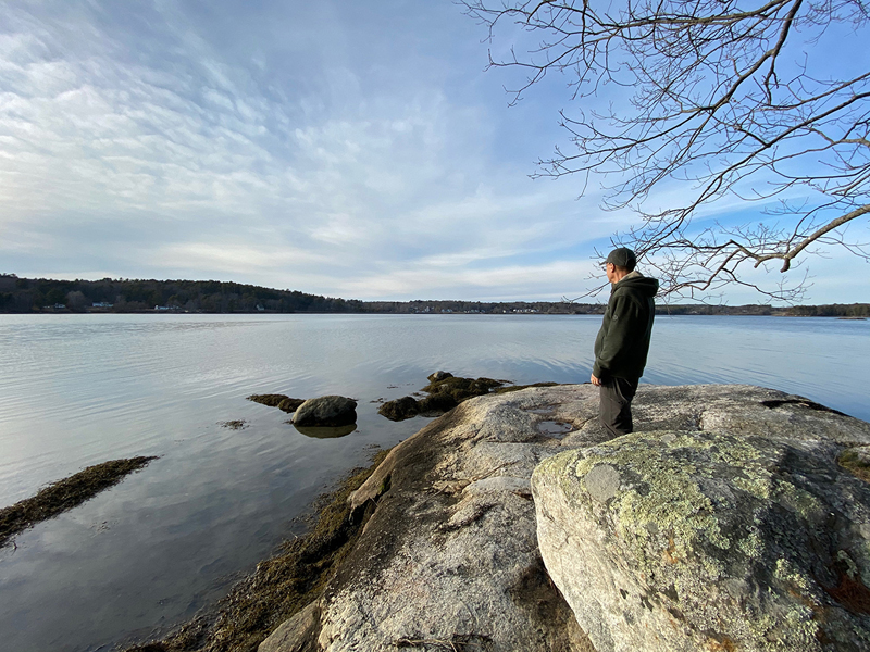 A hiker keeps his distance from others on the trails. Coastal Rivers is advising Maine residents to follow all public health and safety guidelines during the COVID-19 pandemic.